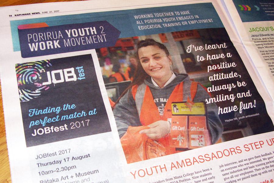 Newspaper advert design