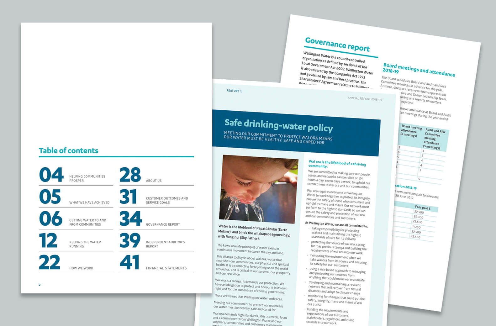 Pages from Wellington Water Annual Report