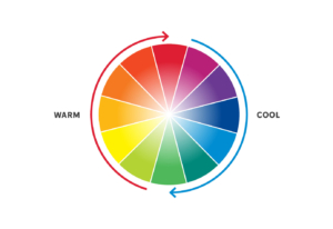 Colour wheel graphic on a white background